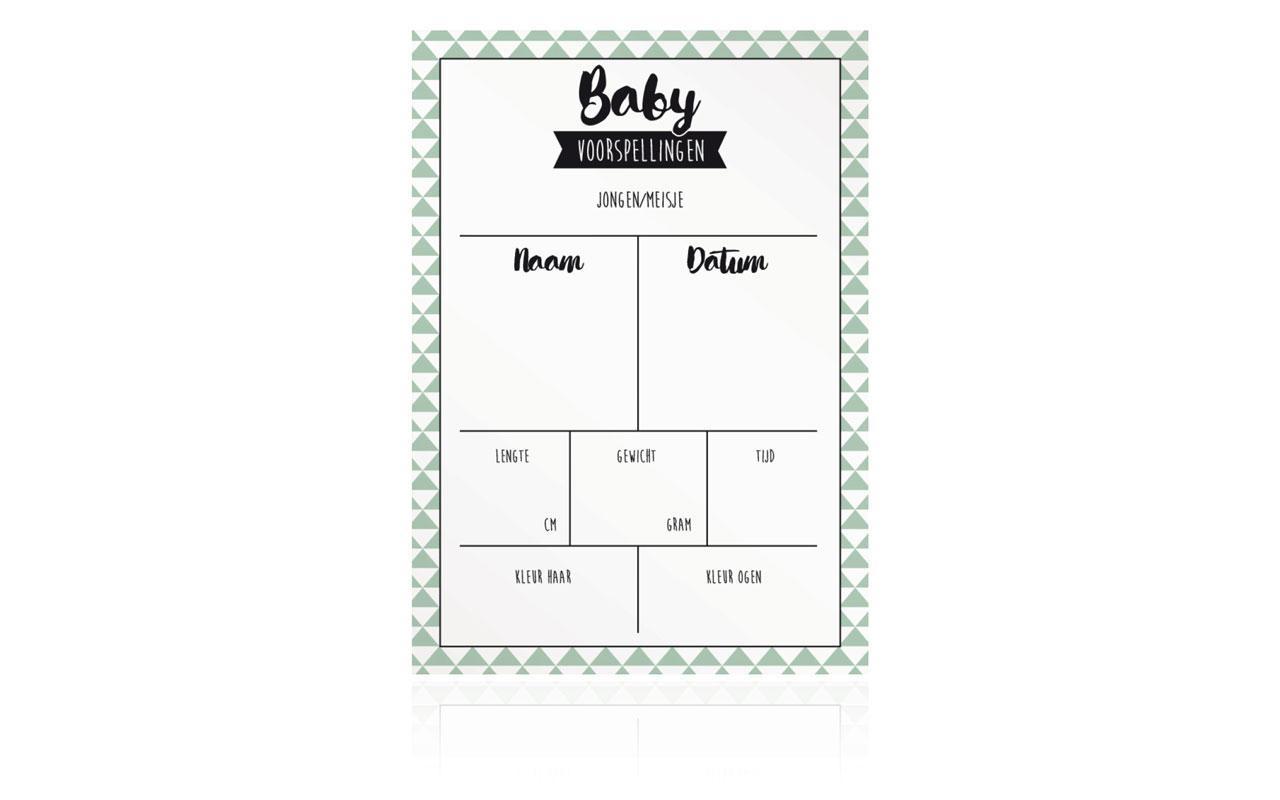 Babyshower Invulkaartjes Triangle Kaartmetmuisjes Nl