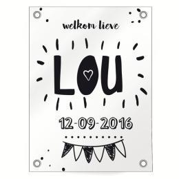 Geboorte raamdoek Lou