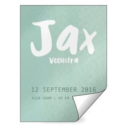 Geboorte raamsticker Jax