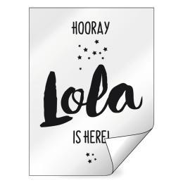 Geboorte raamsticker Lola