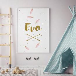 Geboorteposter Eva