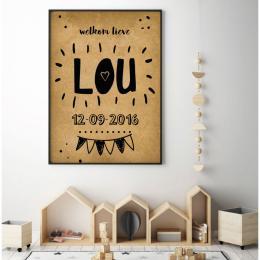 Geboorteposter Lou
