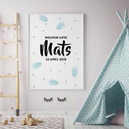 Geboorteposter Mats