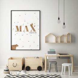 Geboorteposter Max