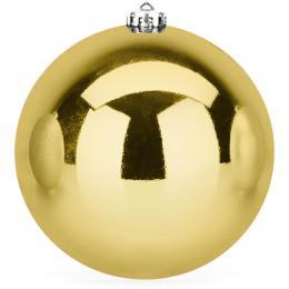 Kerstbal goud glanzend