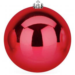 Kerstbal rood glanzend