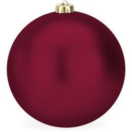 Kerstbal rood mat