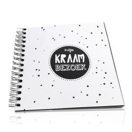 Kraambezoekboek zwart/wit